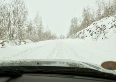 Traversée du Monténégro sur la neige.