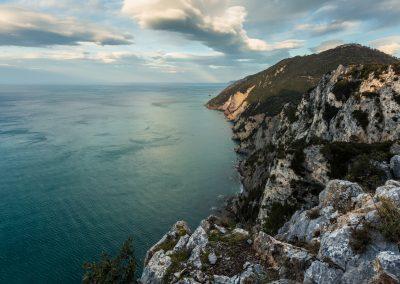 """Très beau site d'escalade dans les """"cirque terre"""" près de la Spézia en Italie."""