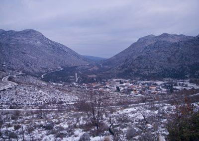 Frontière : Croatie - Bosnie Herzégovine.